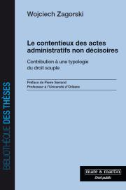 Le contentieux des actes administratifs
